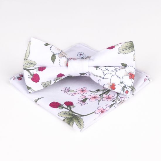 Fashionable Printed Cotton Bow Tie & Kerchief for Men pictures & photos