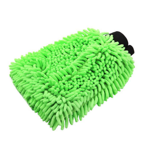 Eco-Friendly Non-Woven Cloth Mitt Chenille Car Cleaning Glove pictures & photos