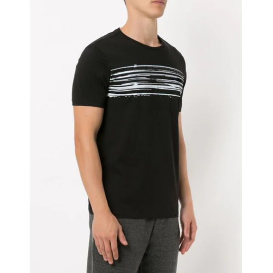 6a7b36c8a631cd China Men Fashion Chest White Lines Printed Classic Fit Black T ...