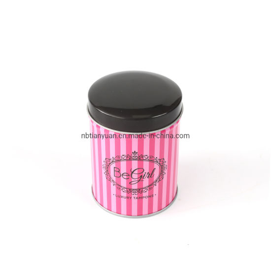 Round Metal Candy Mint Storage Tin Box