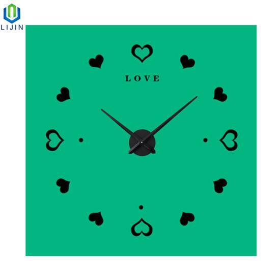 Creative acrylic Heart Shaped Wall Clock Modern Living Room DIY Wall Clock