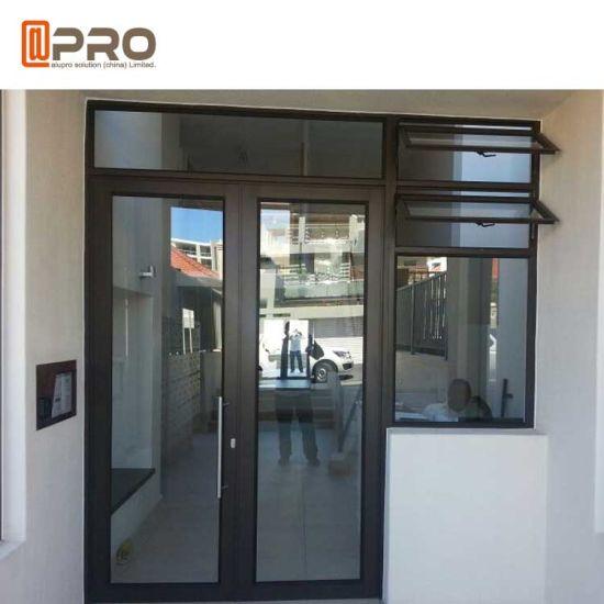 Wide Used Commercial Aluminum Glass Panel Swing Hinge Door