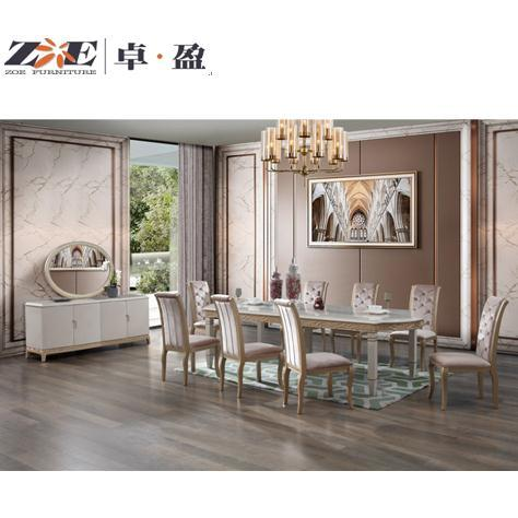 China Home Furniture Solid Wood High, Cream Colored Dining Table And Chairs