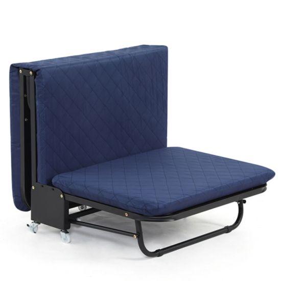 Lockable Wheels Rollaway Folding Bed with 6-Inch Contemporary Foam Mattress
