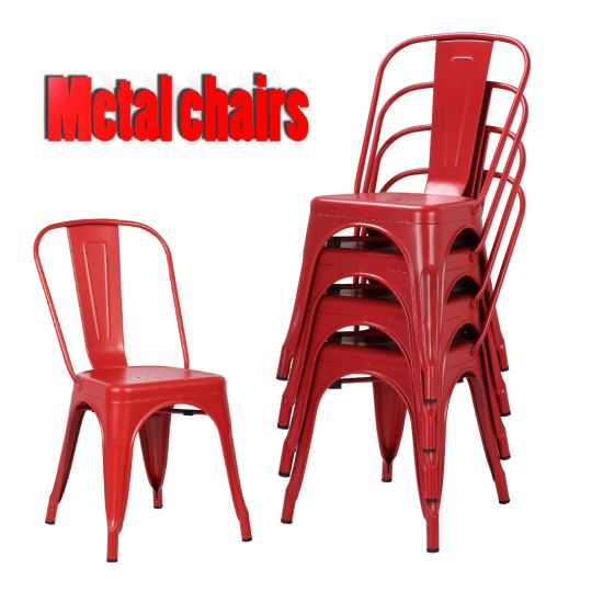 Metal Cafe Hotel Furniture Wholesale Dining Tolix Restaurant Chair