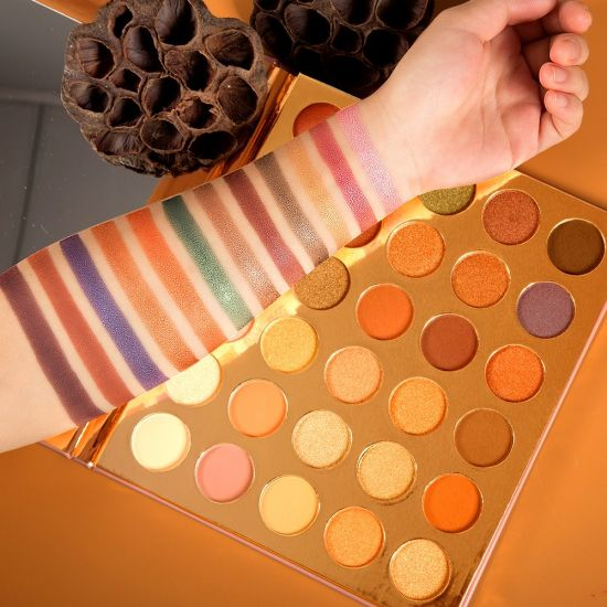 Private Label Make up Cosmetics Glitter Eyeshadow Palette with Your Own Brand