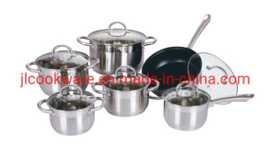 2019 Wholesale High Quality German Style Stainless Steel Cookware Set