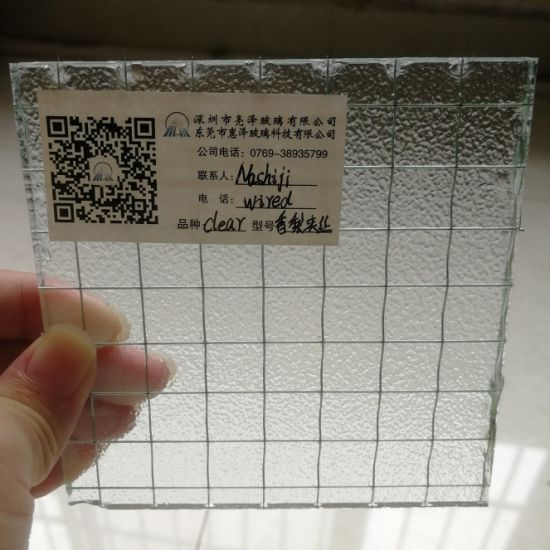 4mm 5mm 6mm Wired Nashiji Patterned Glass Georgian Wire with Clear Sheet Glass for Building