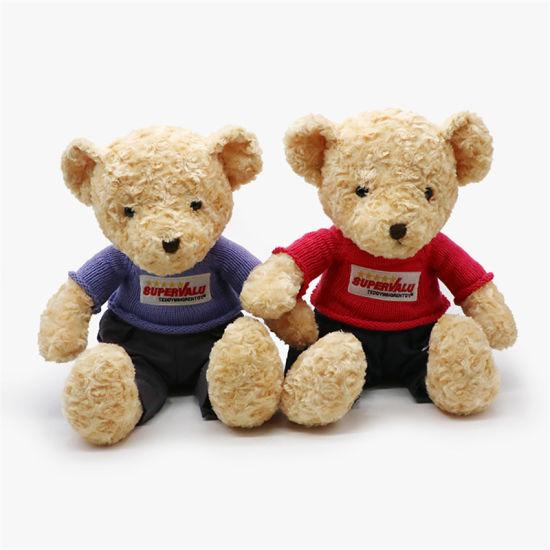 Rose Velvet Knitted Teddy Bear
