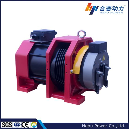 Parts for Elevator, Gearless Traction Machine for Lifts; Load Capacity 680kg, Speed 1.75m/S; Wtd2-P Series, Disc Brake Type