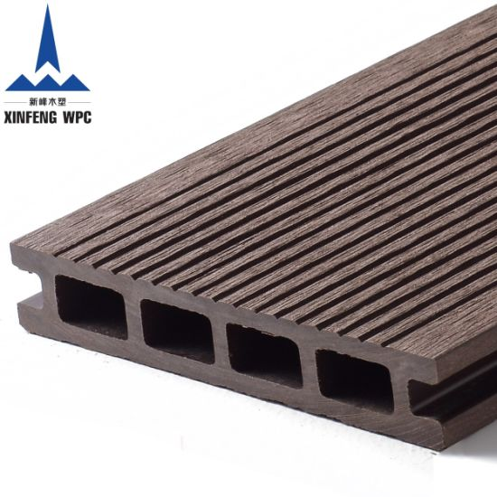 Easily Installed Wood Plastic Composite Flooring WPC Decking