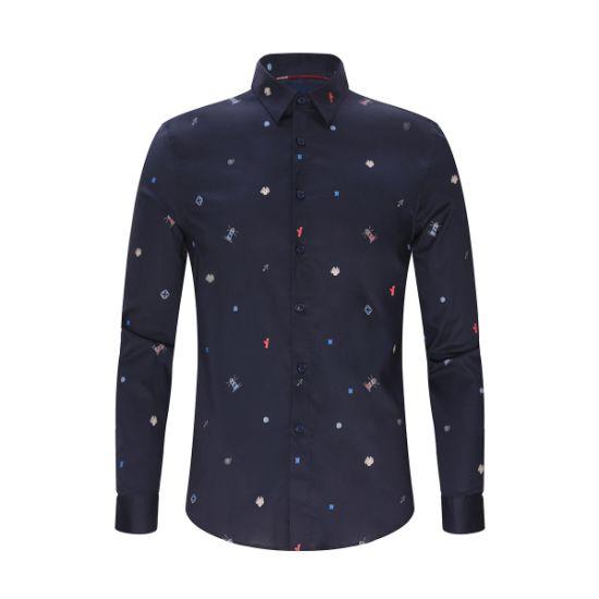 Fashion Leisure Personality Print Comfortable Men's Shirt