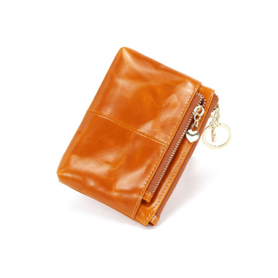European and American Style Genuine Leather Multifunctional Ladies Coin Purse Wallet