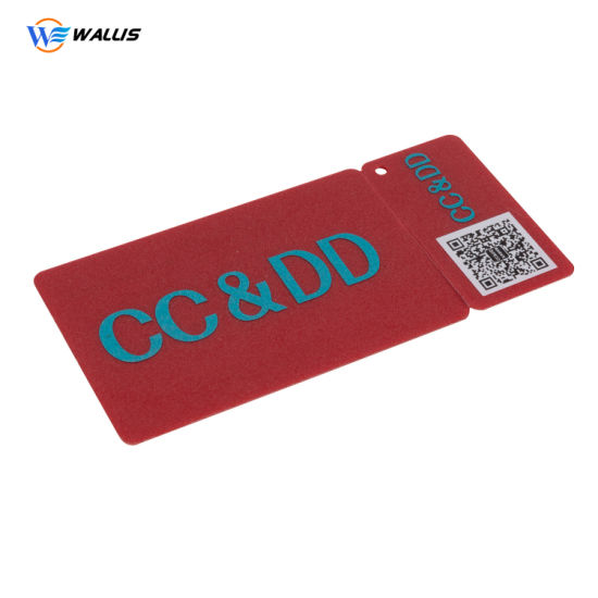 Cmky Printing Custom Hole Punched Label Card Hang Key Tag PVC Plastic Business Cards