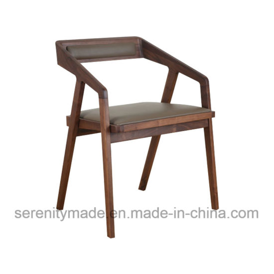 New Design Wholesale Wood Restaurant Chair Dining with Padded Seat