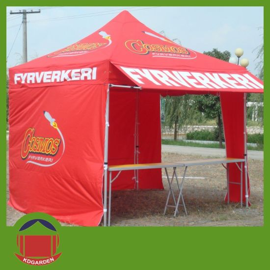 china ez up folding tents with printing with folding table china