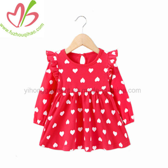5246d68cfb41 China Baby Girl Red Polka Dots Flutter Sleeve Winter Dress - China ...