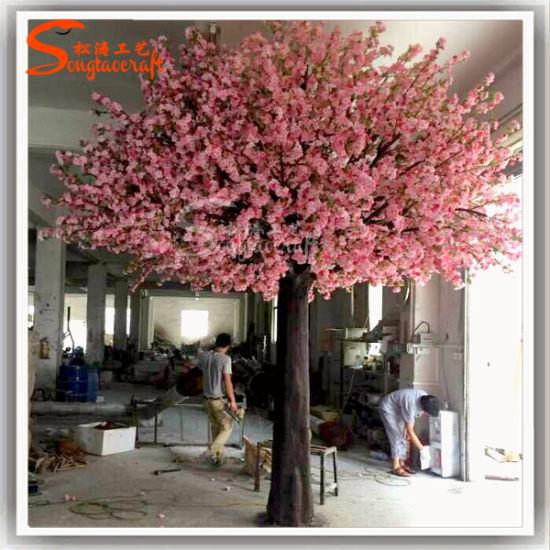 Wedding Decoration Garden Ornament Artificial Cherry Tree Artificial Blossom Flower