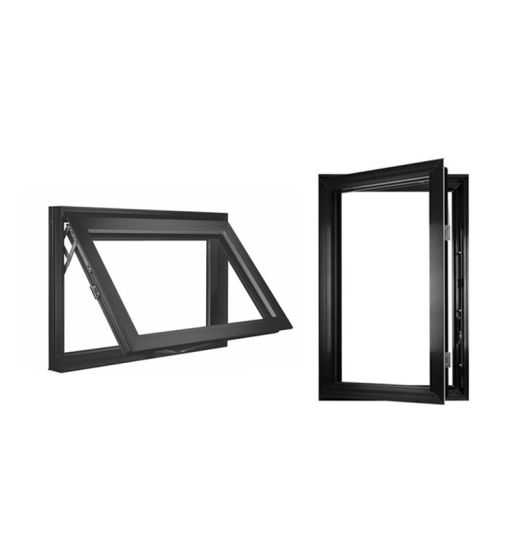 Aluminum Alloy Frosted Glass Casement Window for Toilet Aluminum Casement Windows