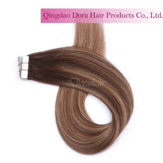 Hot Sale Tape in Hair Weft Customized Brazilian Human Hair Extension pictures & photos