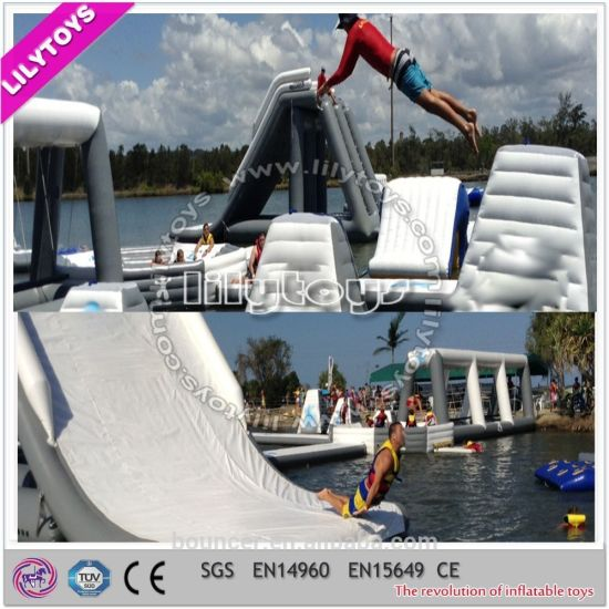 2017 Newest Air-Sealed Inflatable Floating Climbing Game Water Trampoline Park Water Toys for Sale (J-water park-135) pictures & photos