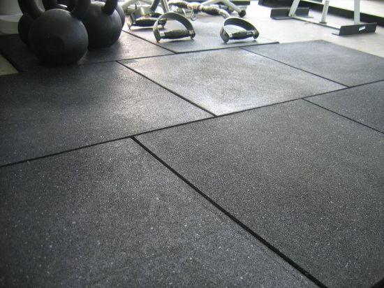 China Fire Resistant Sport Rubber Floor Mat Tile For Fitness