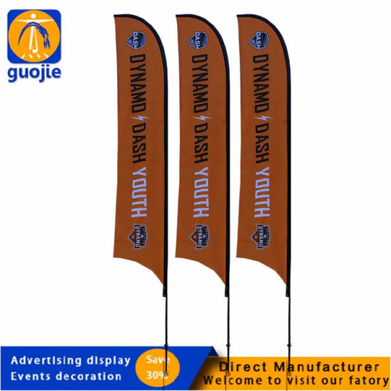Customized Decorate Fast Produce Wholesales Cheap Promotional Outdoor Advertising Tear Drop Beach Feather Flag
