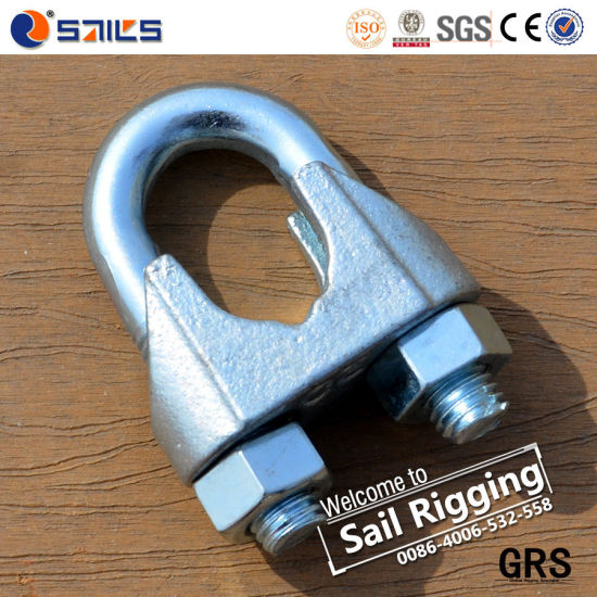 22mm Zinc Plated Malleable Iron DIN741 Wire Rope Clip pictures & photos