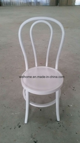 White Color Stackable Bentwood Chair For Sale