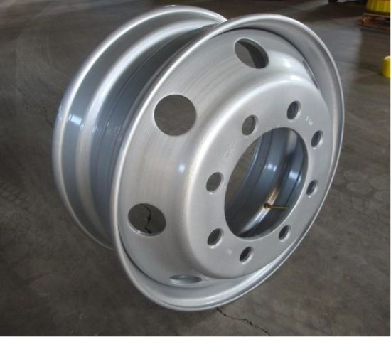 Truck Trailer Steel Tube Wheel Rim 8.5X24 pictures & photos