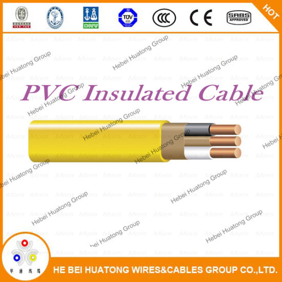 China 600volts 14/2 12/3 12/2 with Ground Romex Copper Wire Nm-B ...