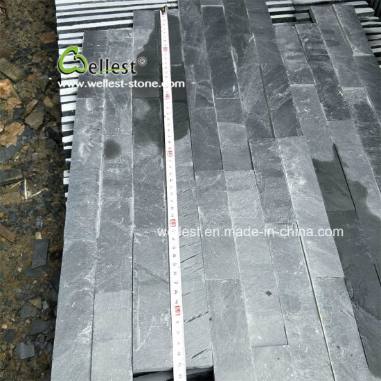 China Black Slate Ledgestone for Wall Panel Tiles, Facade Decorating ...