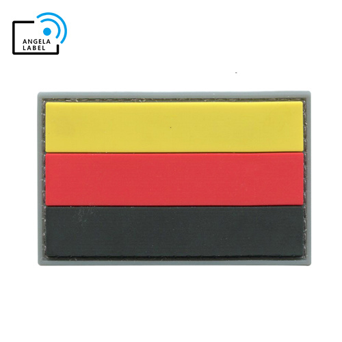 Ce Approval Hand-Made Rubber Injection Color Patch Flag pictures & photos