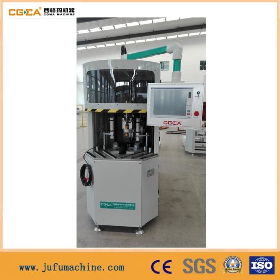 PVC Win-Door Corner Cleaning Profile Machine with CNC pictures & photos