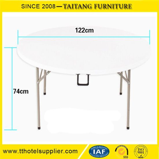 Bon Restaurant Outdoor Folding Round White Table Wholesale