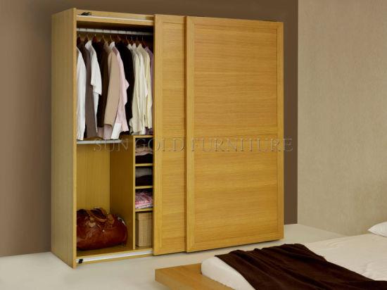 Wardrobe Sliding Door Wooden Bedroom Furniture Sz Sw030