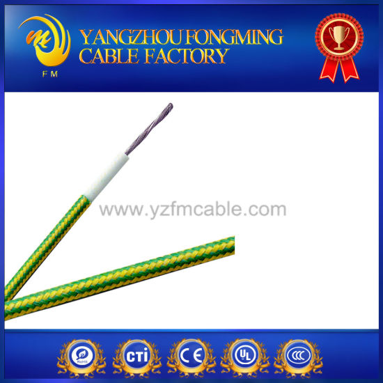 200deg. C High Temperature Copper Silicone Insulated Fiberglass Braiding Lead Wire pictures & photos