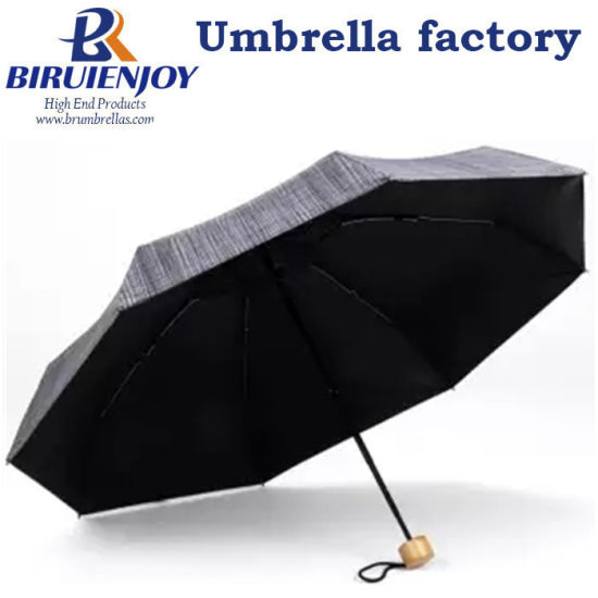 Mini Umbrella Rain Women Black Coating Sunscreen 5 Folding Umbrellas Travel Outdoor Pocket Umbrella Windproof 8 Ribs