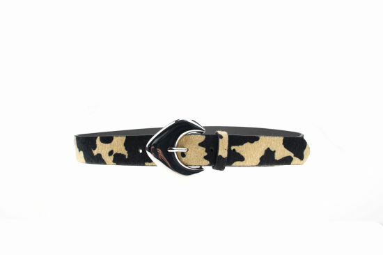 Simpley Style Young Lady's Belt with Cow Grain PU