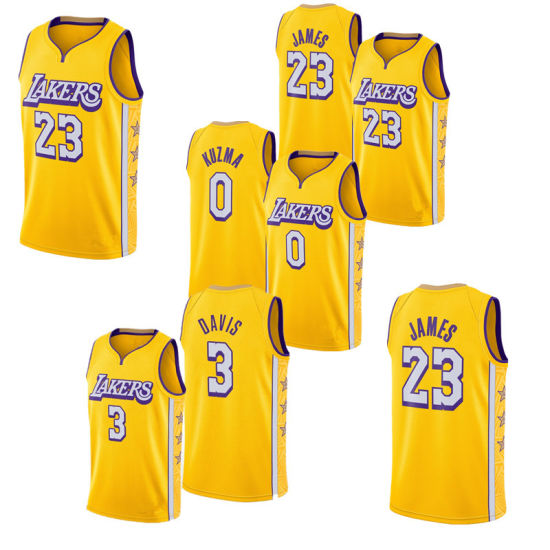 2020 New Latest Lakers Sports Lebron James Embroideried Basketball Jerseys