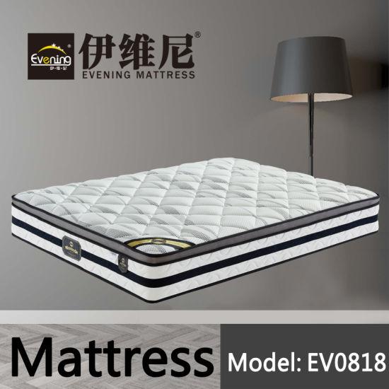 Wholesale Pocket Spring Hotel Double Bed Memory Foam Bedding Mattress for Bedroom Set