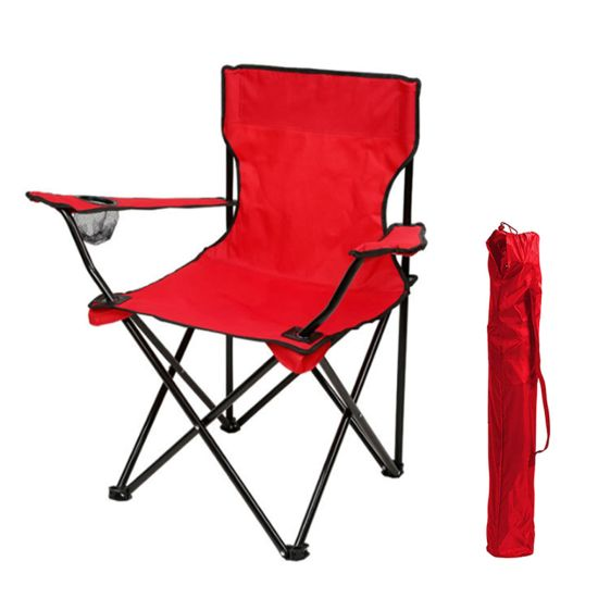 Folding Chair Folding Camping Chair with Armrest Cup Holder Carrying Storage Bag