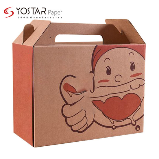 Recyclable Portable Cake Food Packing Gift Paper Box with Logo