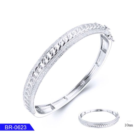 Factory Wholesale New Arrival Handmade Personalized Silver Jewellery Crystal Bangle for Girl