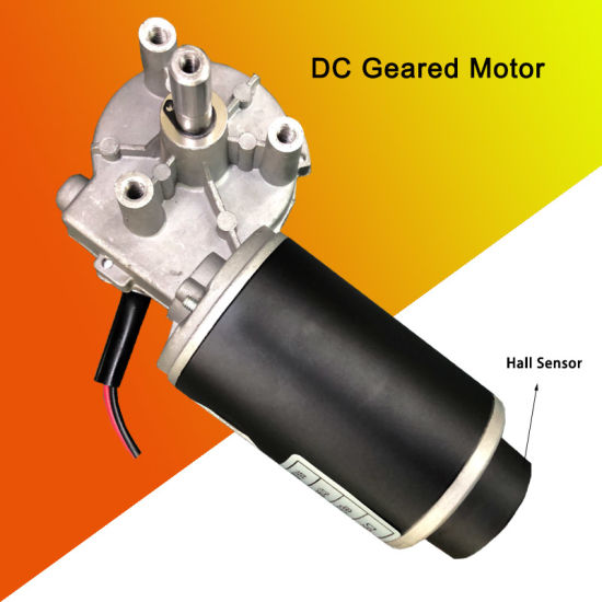 12V 24V DC Worm Gear Motor Hall Encoder with Output Shaft 10mm