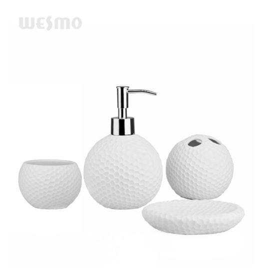 Intaglio Porcelain Bathroom Set