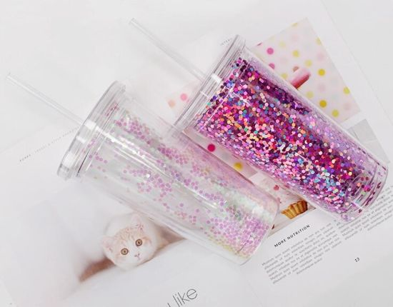 Acrylic Double Wall Insulated in Bulk Tumbler Cups with Lid and Straw