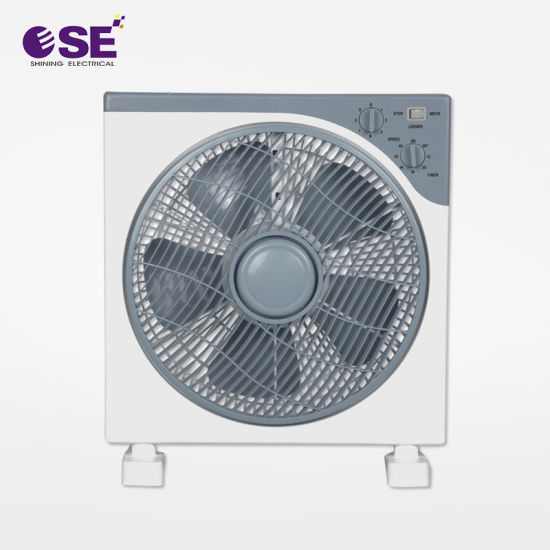 12 Inch PP Blade Copper Motor Box Fan with Timer