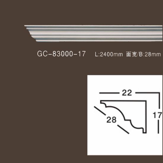 China Factory Pu Plain Crown Moulding