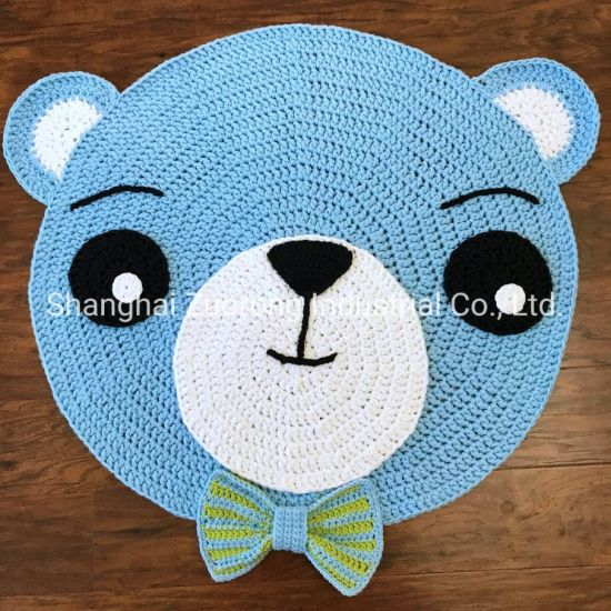 Source Factory Wholesale Hand Crochet Carpet, Knitted Floor Rugs, Knit Jute Circle Rug, Nautical Sailor Mat, Hemp Doormat Crochet Carpet 595